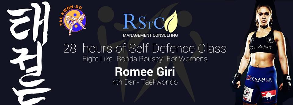 28 Hours of Self Defense for Women Romee Giri 4th DanTaekwodo