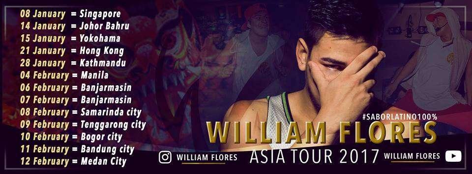 William Flores Asia Tour 2017 Zumba Fitness