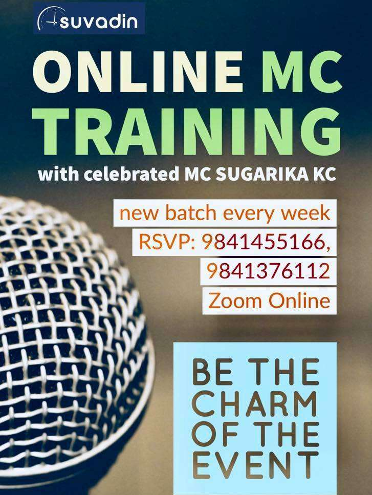 Professional MC (Master of Ceremony) Online Training with Celebrated MC Sugarika KC