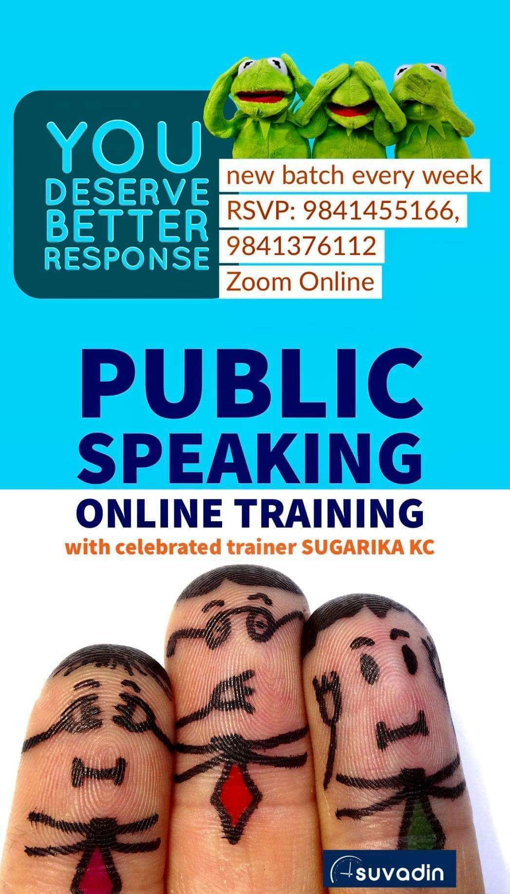 Public Speaking and Effective Communications Training with Celebrated Trainer Sugarika KC