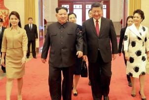 उत्तर कोरियाली नेता किम चीन जाँदै