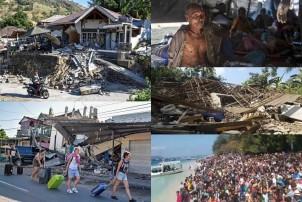 इन्डोनेसियामा दुई हप्तामा दुई शक्तिशाली भूकम्प, करिब ५ सय को मृत्यु