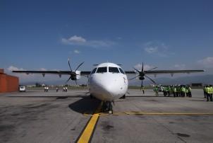 Yeti Airline new ATR72-500 aircraft arrived Kathmandu