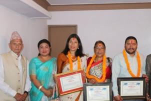 'मितेरी गंगादेवी शान्ति' पुरस्कार कुँवर र शाहीलाईप्रदान