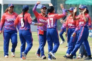 महिला क्रिकेटमा नेपाल ४१ रनले पराजित