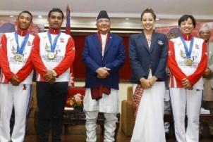 पदक विजेता खेलाडीलाई काठमाडौं, ललितपुर र भक्तपुर परिक्रमा गराइने
