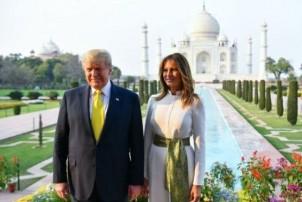 सोमबार साँझ ताज महलमा ट्रम्प दम्पत्ति, आज भारतसँग कुटनीतिक वार्ता