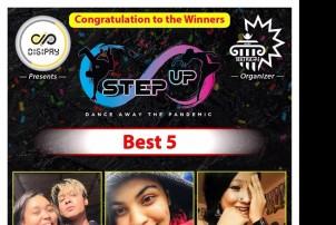 """स्टेप अप"""" नृत्य प्रतियोगिताको अन्तिम नतिजा सार्वजनिक"""